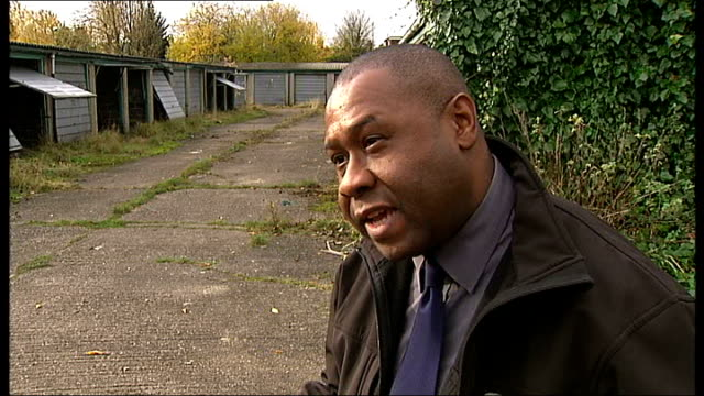 'Build to rent' plot to be built in east London ENGLAND London Waltham Forest College INT John Struthers marking door with pencil and saying 'How's...