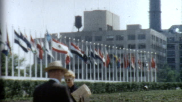 un building 1950's - united nations building stock videos and b-roll footage