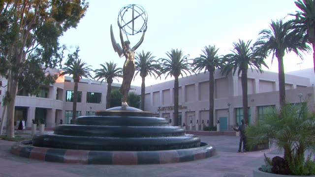 atmosphere building and statue at 65th primetime emmy awards nominations announcement atmosphere building and statue at 65th primetime at leonard h... - emmy statue stock-videos und b-roll-filmmaterial