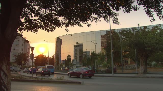 MS Building and traffic at sunset / Luanda, Angola