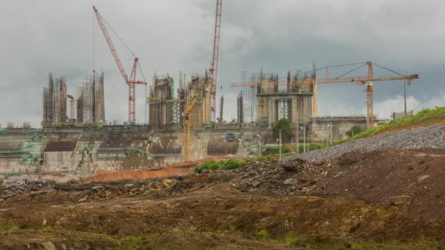 tl - building belo monte dam - belem, brazil - belém brazil stock videos and b-roll footage