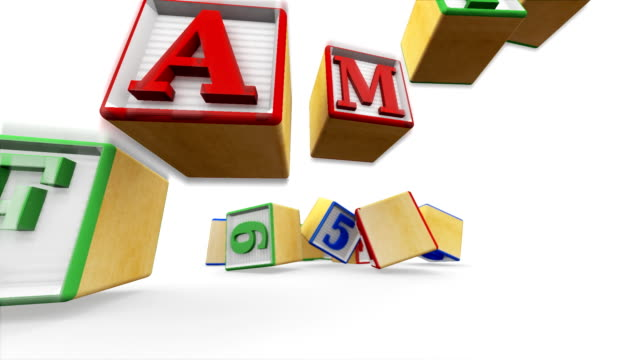 building blocks family - cube stock videos & royalty-free footage