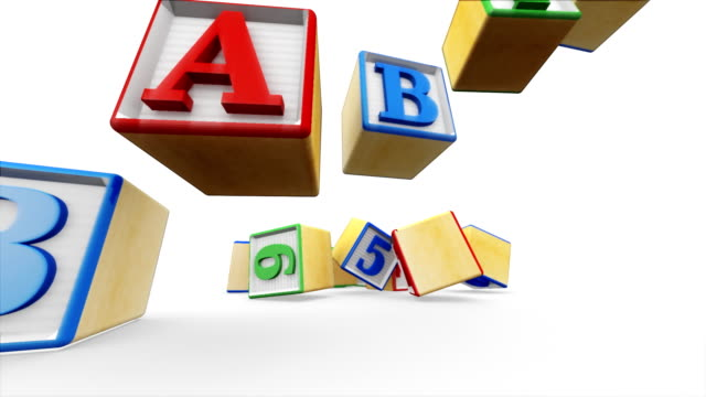 building blocks spell babies - wood material stock videos & royalty-free footage