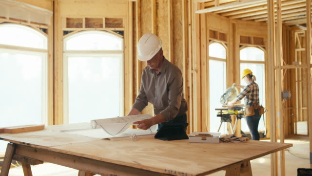 building contractor - construction worker stock videos & royalty-free footage