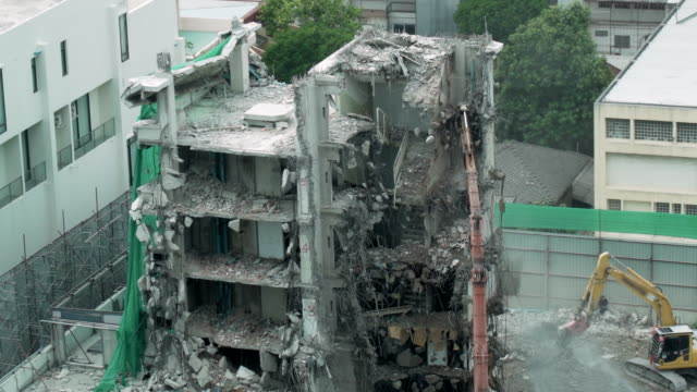 building demolition - gru video stock e b–roll