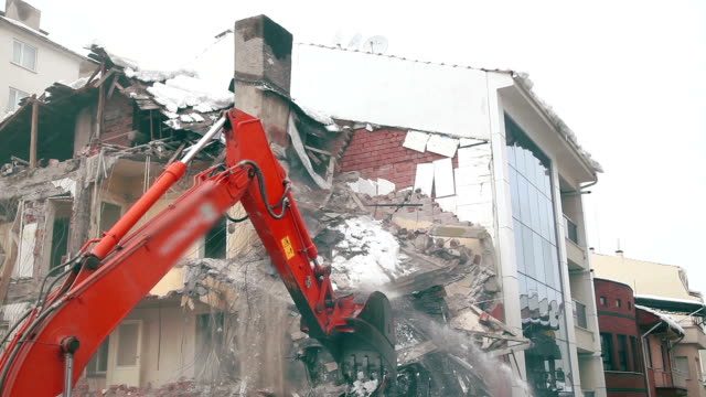 building demolition - bulldozer stock videos and b-roll footage