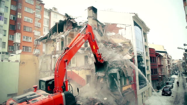 building demolition - dollop stock videos and b-roll footage