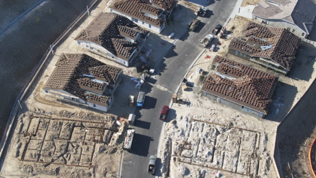 building houses - aerial view - riverside california stock videos and b-roll footage