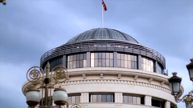 building in baroque style - skopje stock videos and b-roll footage