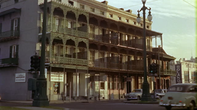 1959 ws building in french quarter, new orleans, louisiana, usa - 1950 1959 stock videos and b-roll footage