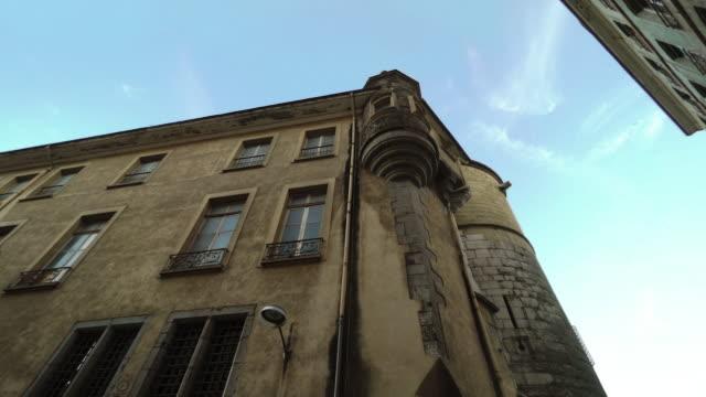 building in grenoble, france - grenoble stock-videos und b-roll-filmmaterial