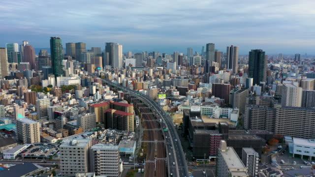 building in osaka city, japan. - 大阪駅点の映像素材/bロール