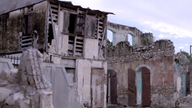 building in ruins after earthquake - haiti stock videos & royalty-free footage