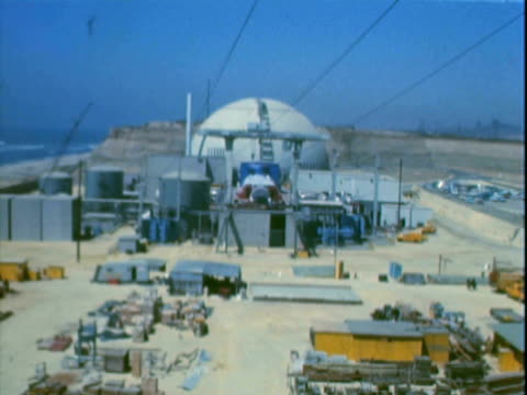 montage building in the san onofre nuclear generating station and surrounding area / san clemente, california, united states - pacific ocean stock videos & royalty-free footage