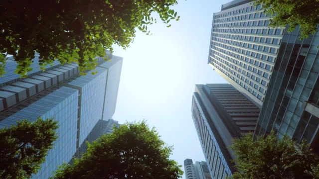 Building - look up at the sky - 4K