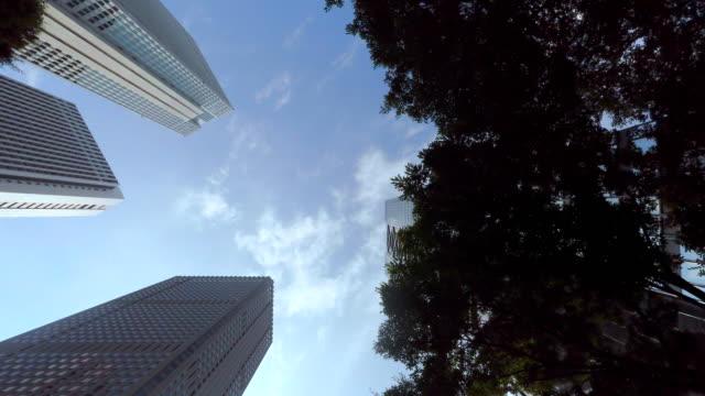 gebäude-look am himmel -shinjyuku- 4 k - fensterfront stock-videos und b-roll-filmmaterial