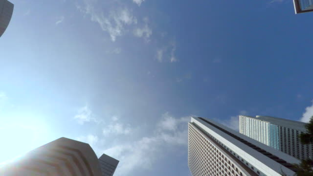 building - look up at the sky -shinjyuku-4k- - plusphoto stock videos & royalty-free footage