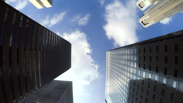 vídeos y material grabado en eventos de stock de edificio-observe el cielo -shinjyuku- 4 k - office block exterior