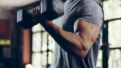 building muscles one rep at a time - gym stock videos & royalty-free footage