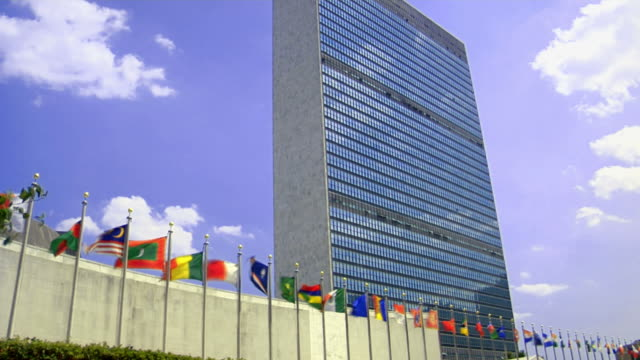 un building. new york - united nations stock videos & royalty-free footage