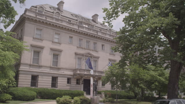 ms building on embassy row / washington dc, united states - embassy stock videos and b-roll footage