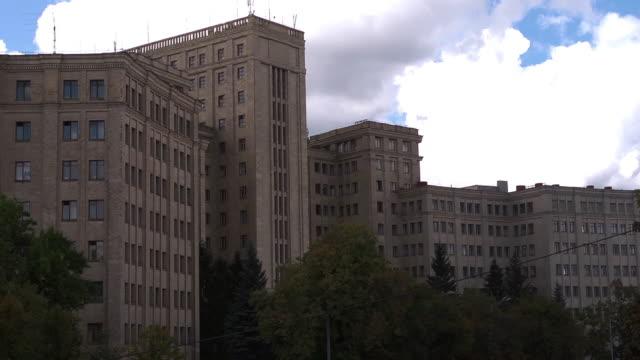 cu building - kharkov stock videos & royalty-free footage