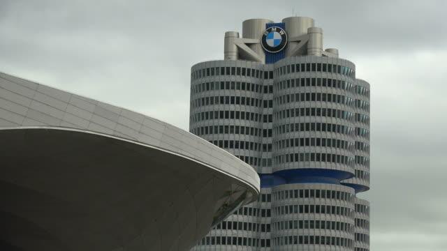 BMW Building with BMW Museum in Munich, Upper Bavaria, Bavaria, Germany