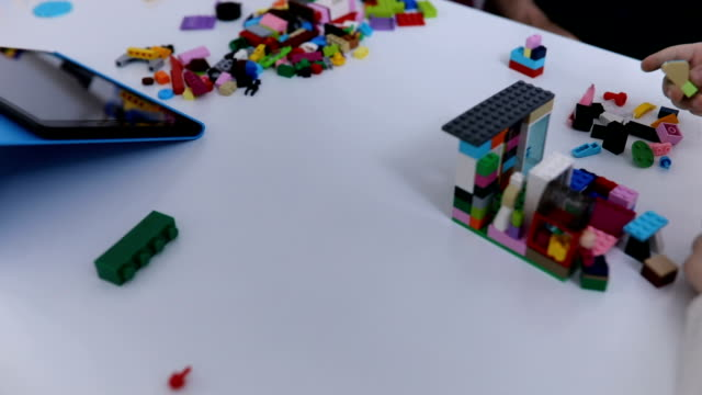 Building with toy cubes