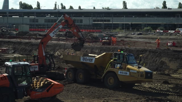 building work at hs2 high speed rail building site in london euston - rail transportation stock videos & royalty-free footage