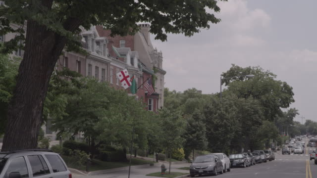 ws buildings along embassy row / washington dc, united states - embassy stock videos and b-roll footage