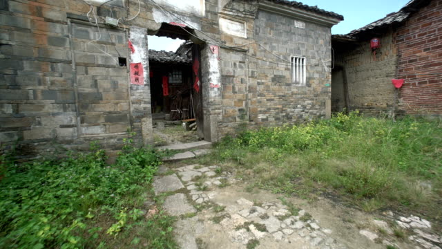 buildings and lifestyles in yiqian old town, guangchang county - 煉瓦点の映像素材/bロール