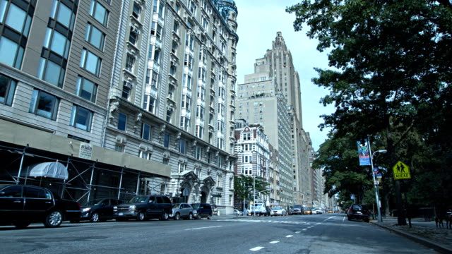 buildings and road, manhattan, new york, usa - circa 5th century stock videos & royalty-free footage