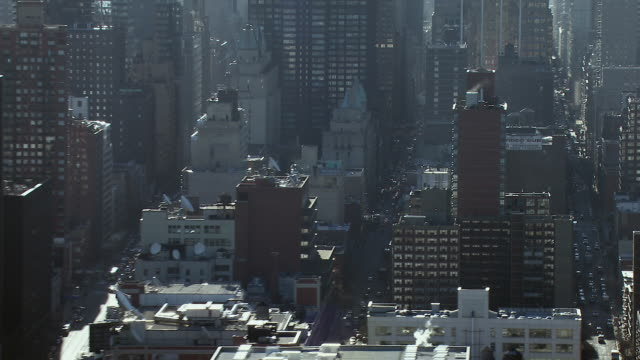 buildings and streets in hell's kitchen, manhattan, new york city. - hell's kitchen stock videos and b-roll footage