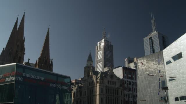 MS Buildings at Federation Square, Melbourne, Victoria, Australia