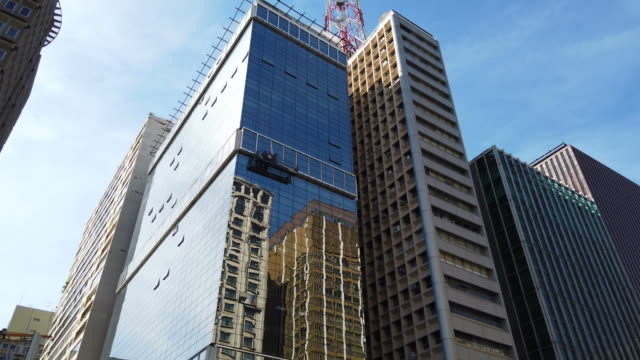 buildings at paulista avenue - avenue stock videos & royalty-free footage