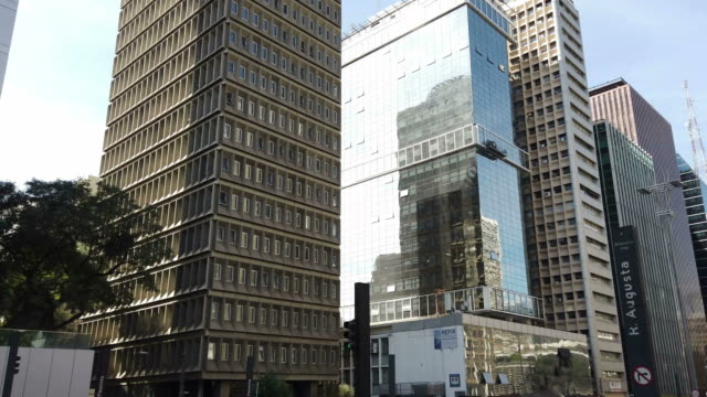 buildings at paulista avenue - avenida paulista stock videos & royalty-free footage