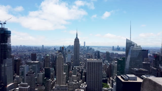 buildings both residential and commercial give form to the iconic manhattan skyline on june 13 2019 in new york city in a move that has set many... - tenant stock videos & royalty-free footage