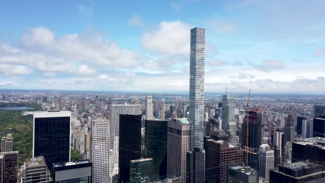 buildings, both residential and commercial, give form to the iconic manhattan skyline on june 13, 2019 in new york city. in a move that has set many... - tenant stock videos & royalty-free footage