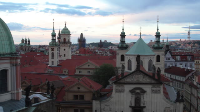buildings by the vltava river from the viewpoint of the charles bridge. - naga river stock videos and b-roll footage
