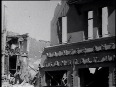 ws buildings destroyed in wwii / germany - tracking shot stock videos & royalty-free footage