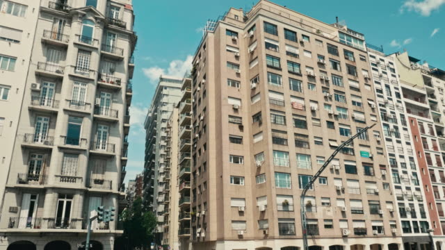 buildings in buenos aires, argentina - facade stock videos & royalty-free footage