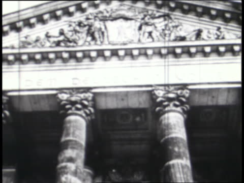 buildings in germany, italy, and japan represent axis legislative bodies that submitted to limitations to their power; elected representatives salute hitler. - axis powers stock videos & royalty-free footage
