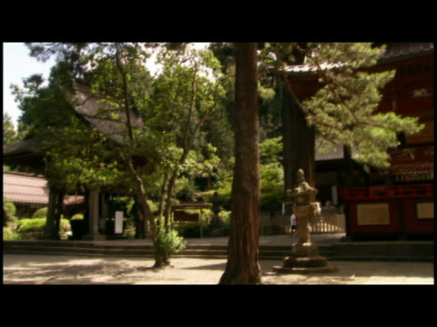 pan  ms buildings in shinto shrine  japan - shinto stock videos & royalty-free footage