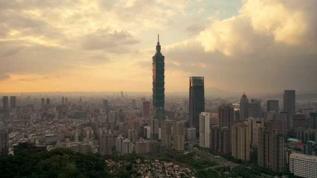 buildings in taipei city, taiwan. - taipei 101 stock videos & royalty-free footage