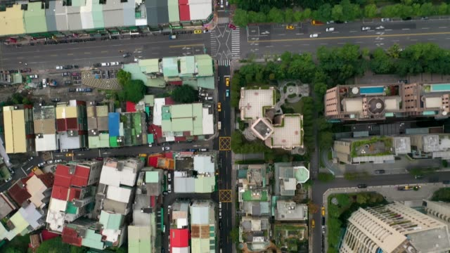 stockvideo's en b-roll-footage met buildings in taipei city, taiwan. - table top view