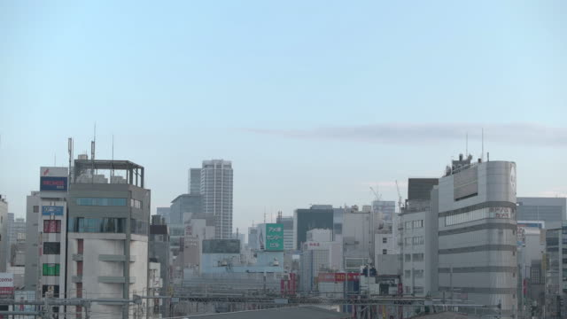buildings in ueno.tokyo,japan - office block exterior点の映像素材/bロール