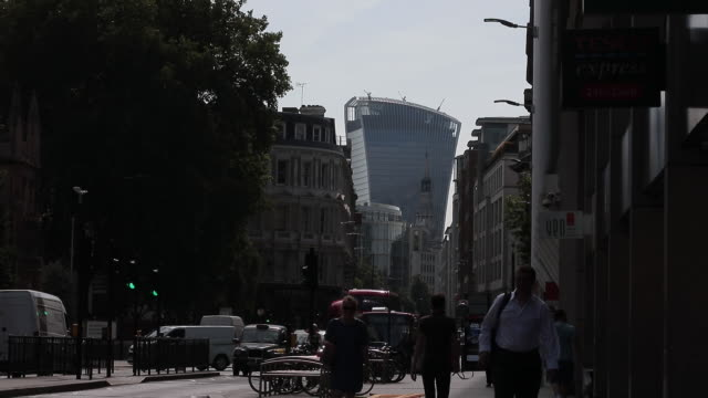 the gherkin cheese grater heron tower newgoldman sachs hq in london uk on monday july 16 2018 - grater utensil stock videos & royalty-free footage