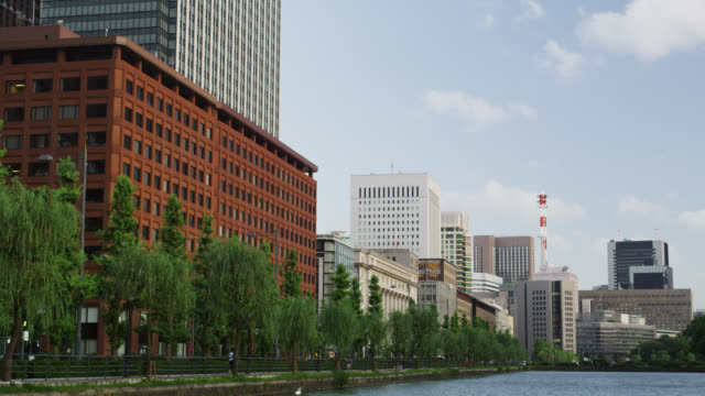 WS Buildings of Hibiya and the outer Moat late afternoon / Tokyo, Tokyo-to, Japan
