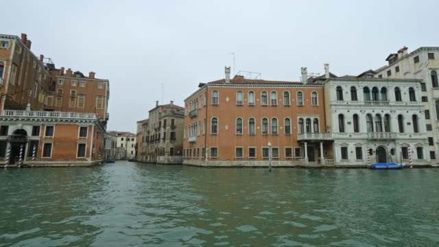 buildings seen from boat on grand canal - venice italy stock videos & royalty-free footage