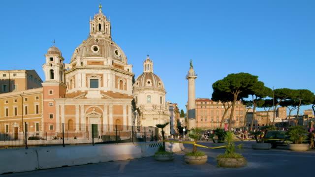 Buildings & Trajan's Column, Rome, Italy